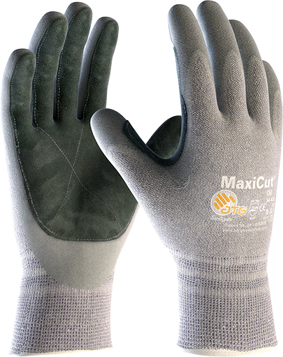 34-470LP MaxiCut® Oil™ Palm Coated with Leather Palm Image
